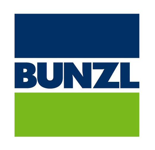 Bunzl logo blue green